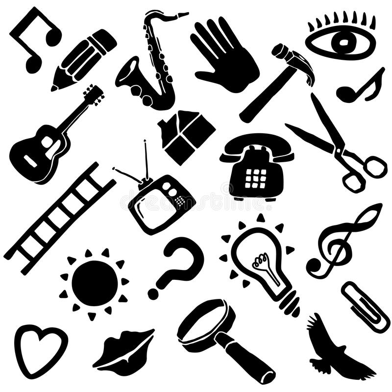Download Miscellaneous icon set stock vector. Illustration of clippers - 9650239