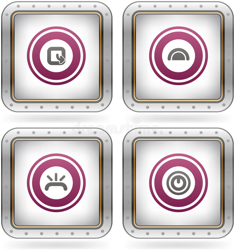 Download Miscellaneous Icons stock vector. Image of logo, pink - 21139462