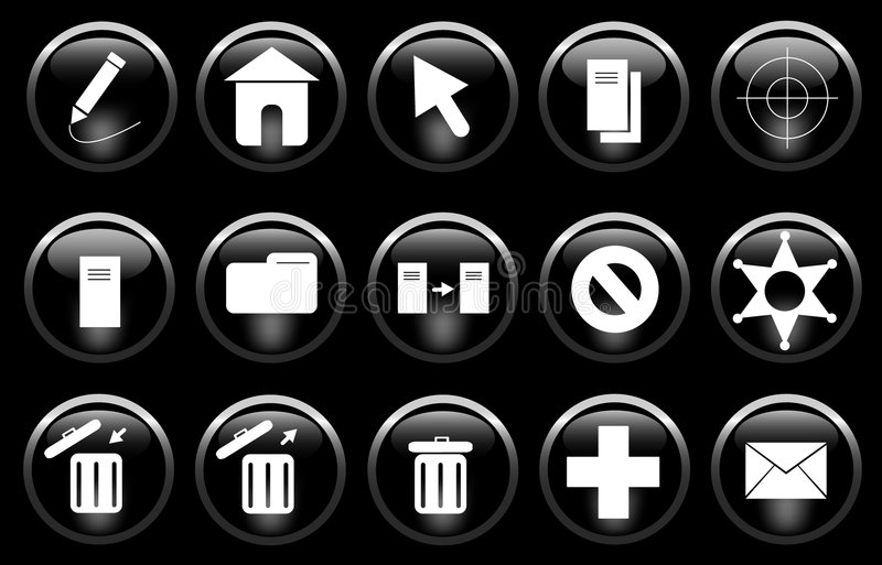 Miscellaneous Icons royalty free stock image