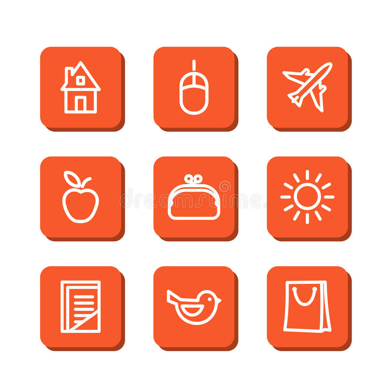 Download Miscellaneous icons stock vector. Image of abstract, mouse - 46159607