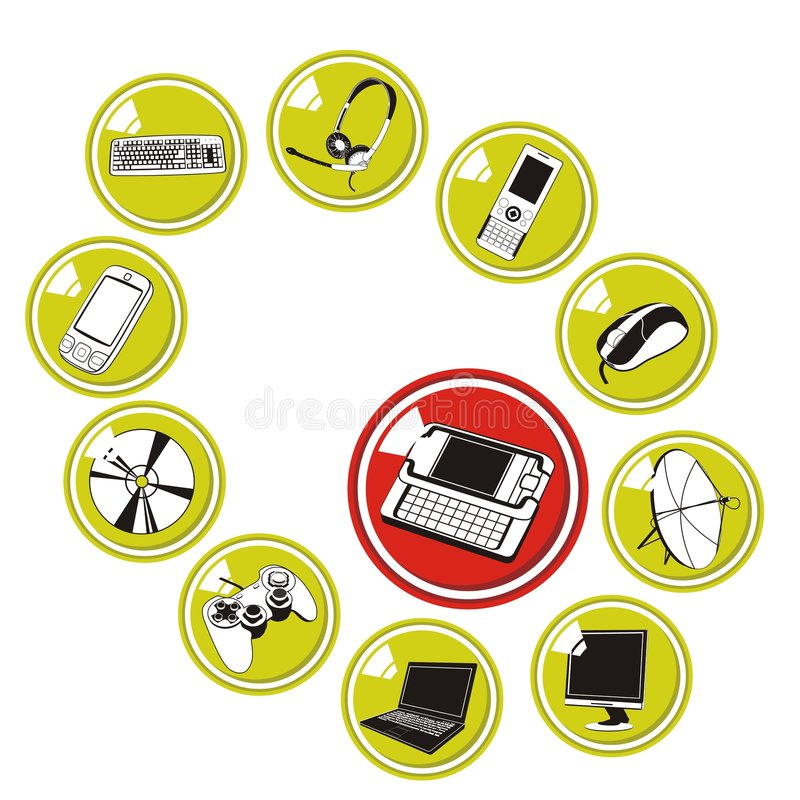 Download Miscellaneous Multimedia Icons Stock Vector - Image: 4517040
