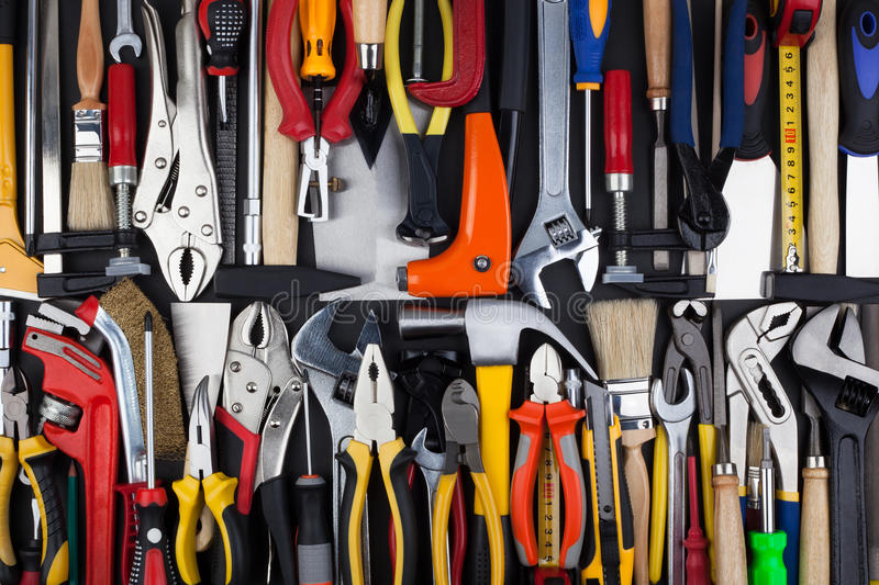Download Miscellaneous work tools. stock photo. Image of background - 42401154