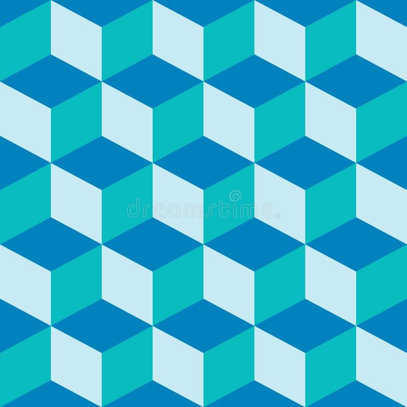 Mischblau des psychedelischen Musters lizenzfreie abbildung