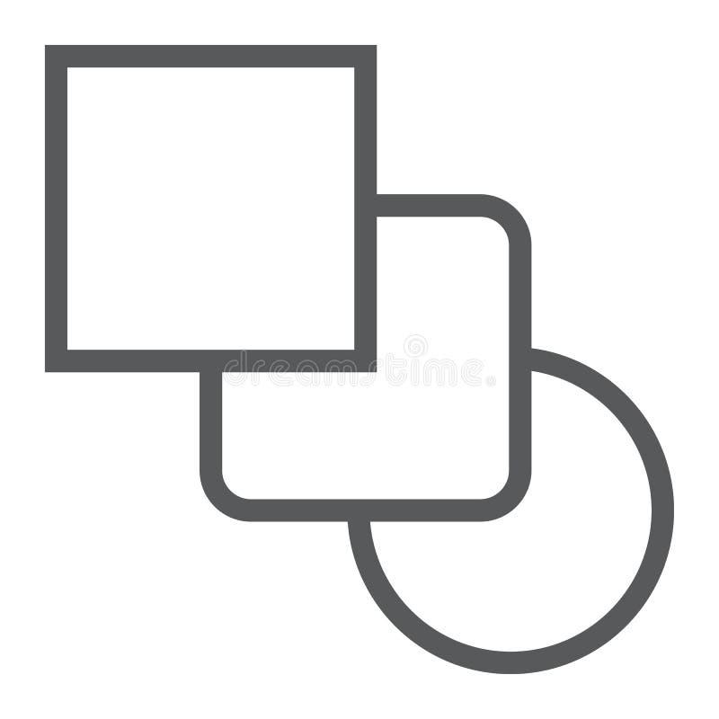Mischen Sie Werkzeuglinie Ikone, Werkzeuge und Design, Kurve lizenzfreie abbildung