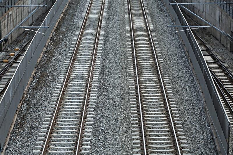 Mischen von Eisenbahnlinien lizenzfreie stockbilder
