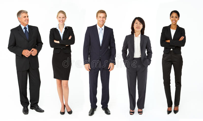 Mischgruppe Geschäftsleute und Frauen lizenzfreies stockbild