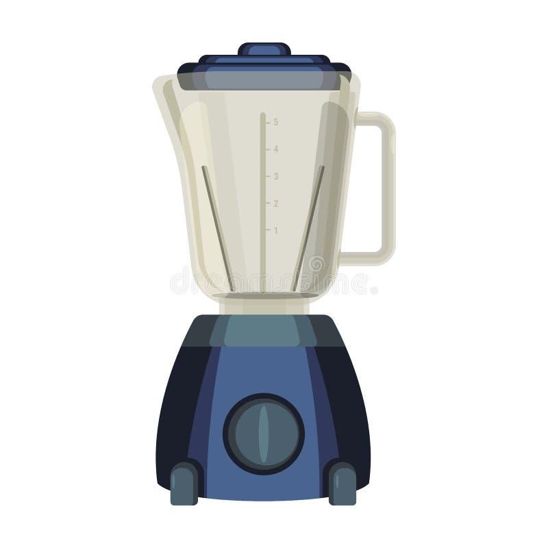 Mischmaschine liquidiser Küchengerät benutzt, um Lebensmittel zu mischen oder zu emulgieren stock abbildung