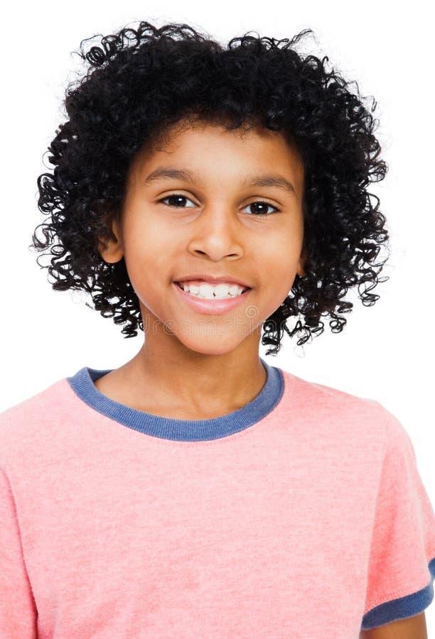 Mischrennen-Jungen-Lächeln stockfotografie