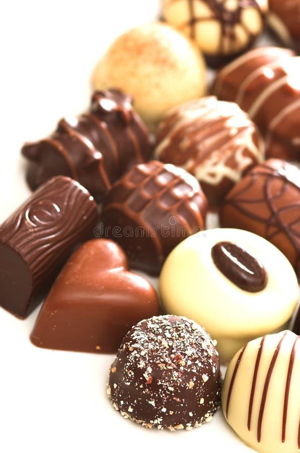 Mischschokoladen stockbilder