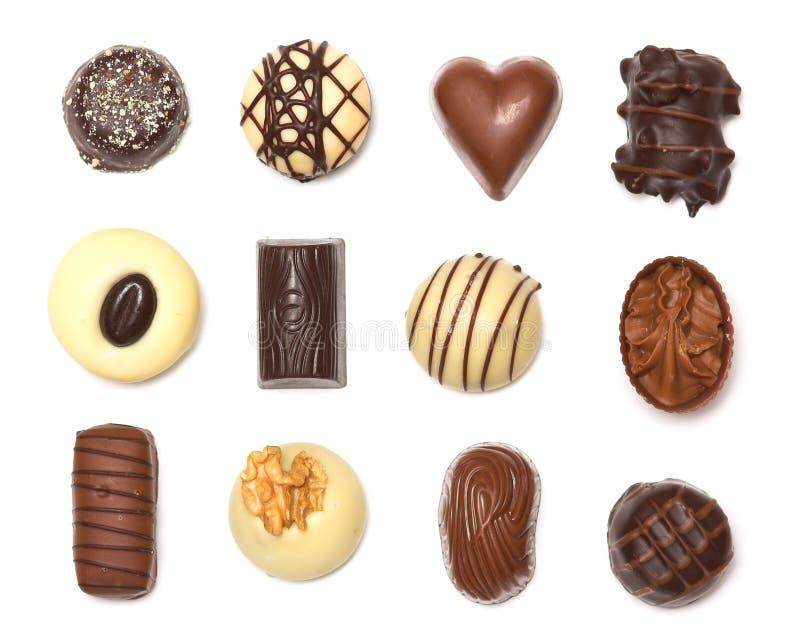Mischschokoladen stockfotografie