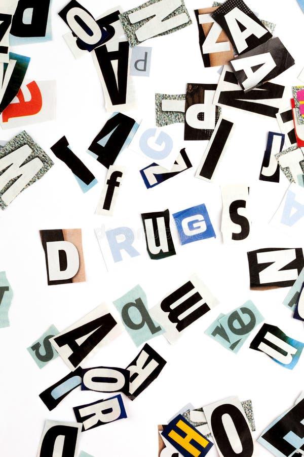 Mischt Droge Beschreibung bei lizenzfreies stockbild