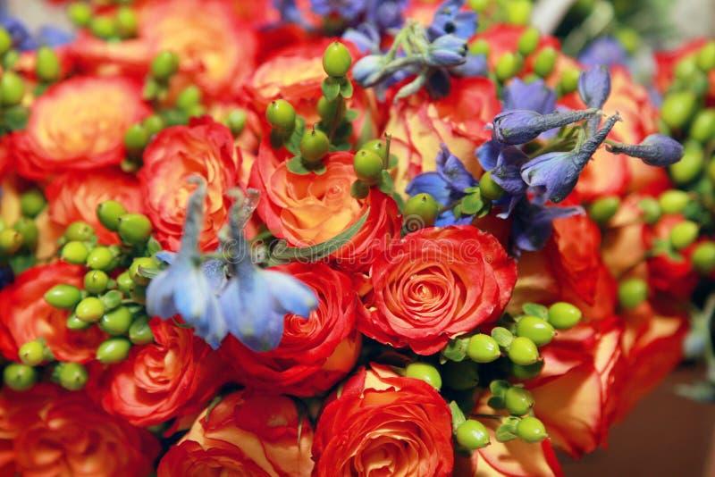 Mischung der Blumen stockbilder