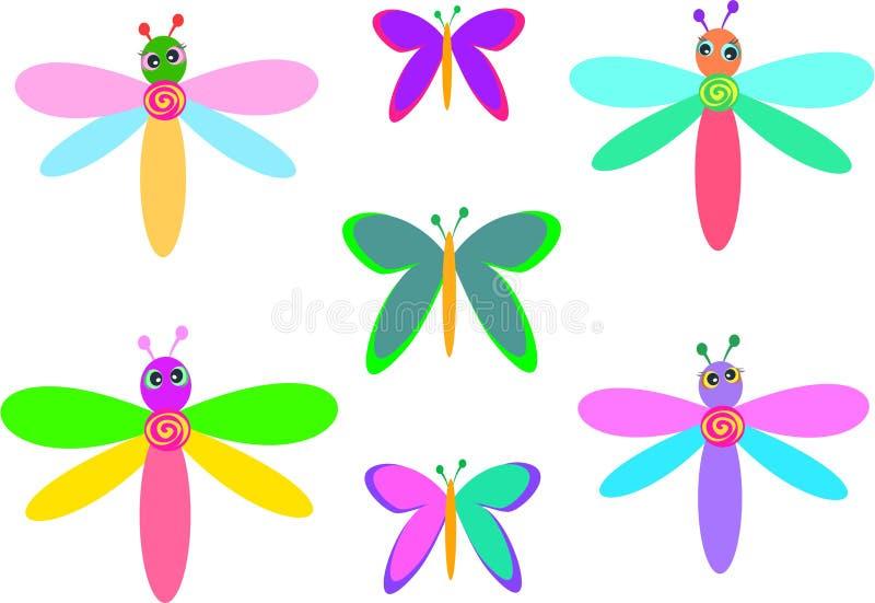 Mischung der wunderlichen Libellen und der Basisrecheneinheiten vektor abbildung