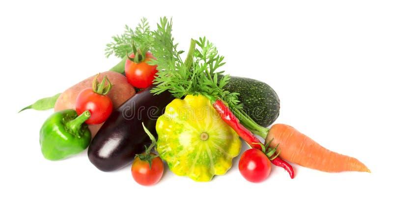 Mischung des Gemüses lokalisiert lizenzfreie stockfotografie