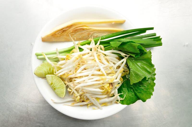 Mischung des thailändischen Gemüses stockbild