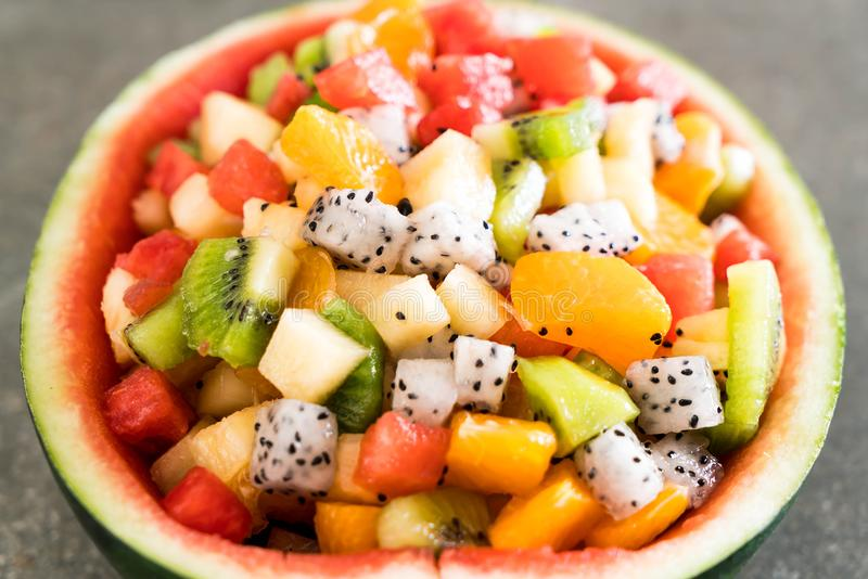 Mischung geschnittene Früchte stockbild