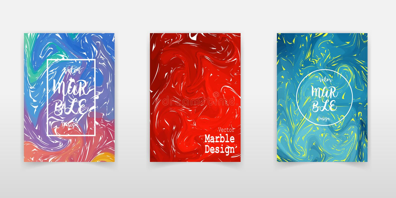 Mischung von Acrylfarben Flüssige Marmorbeschaffenheit Flüssige Kunst Anwendbar für Designabdeckung, Darstellung, Einladung, Flie vektor abbildung