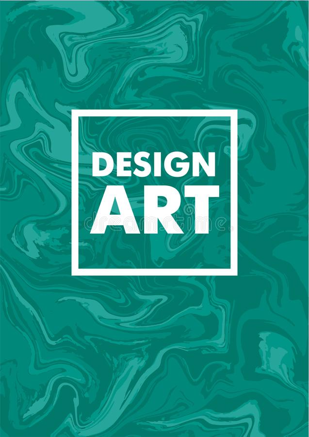 Mischung von Acrylfarben Flüssige Marmorbeschaffenheit Flüssige Kunst Anwendbar für Designabdeckung, Darstellung, Einladung, Flie lizenzfreie abbildung