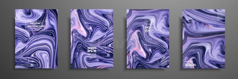 Mischung von Acrylfarben moderne Grafik Modisches Design Marmoreffektmalen Grafische Hand gezeichnetes Design für Design vektor abbildung