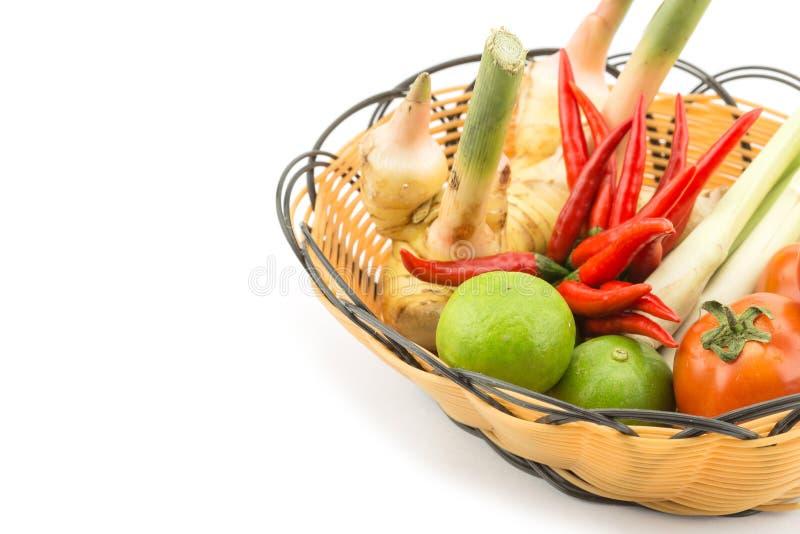 Mischungsgemüse im Korb stockfotografie