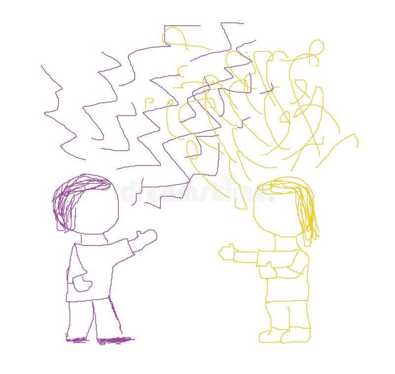Miscommunication ilustração do vetor