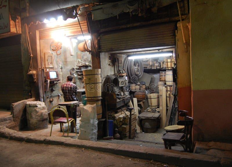 Miscuglio-acquisti dei millworks a Cairo fotografie stock libere da diritti