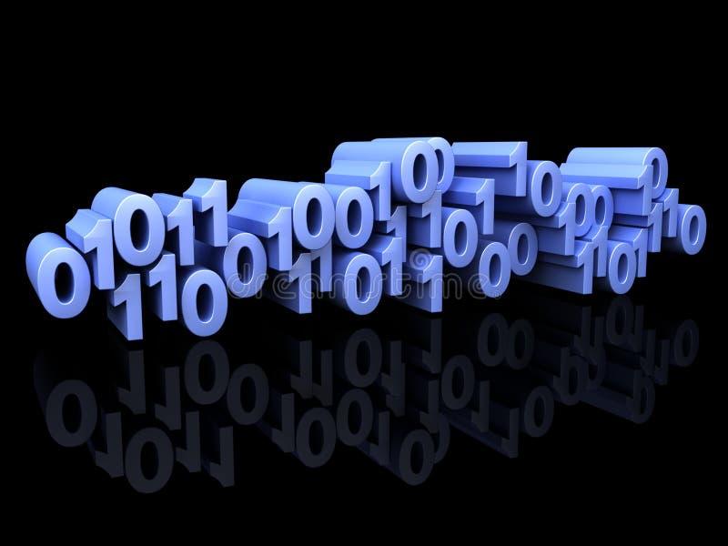 Miscuglio blu di numeri binari illustrazione di stock