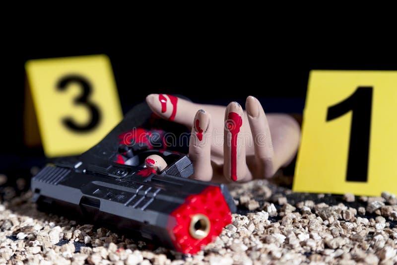 Misdaadscène van een gunfight royalty-vrije stock foto