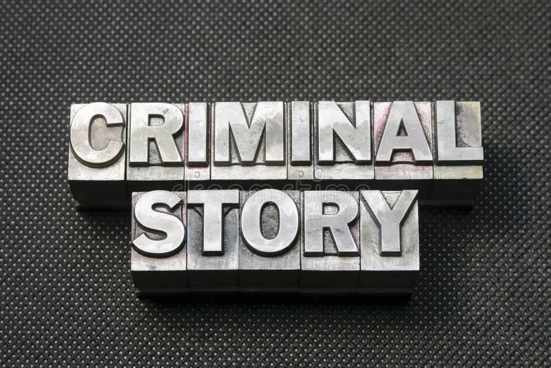 Misdadig verhaal BM stock afbeelding
