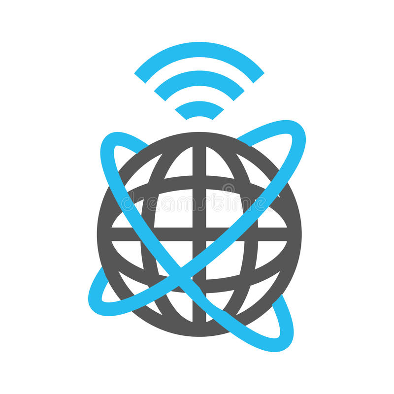 Mise à jour globale d'Internet illustration libre de droits