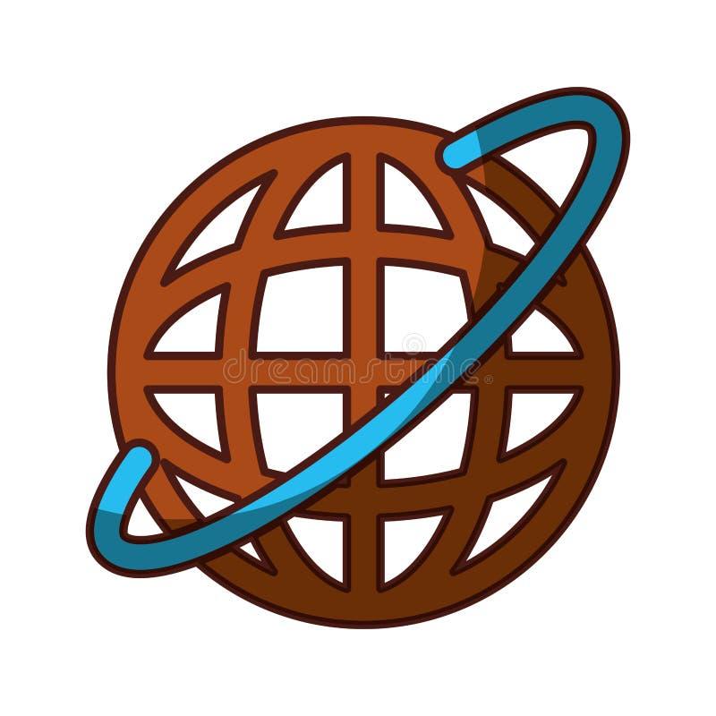 Mise à jour globale d'Internet illustration stock