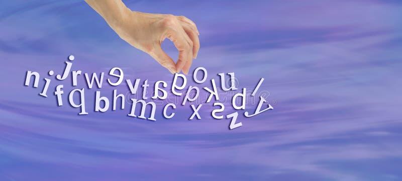 Mise en évidence de la bannière de site Web de dyslexie images libres de droits