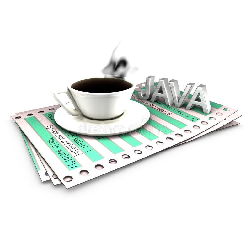 Mise en place de fonctionnalités avec la source Co de Java illustration stock