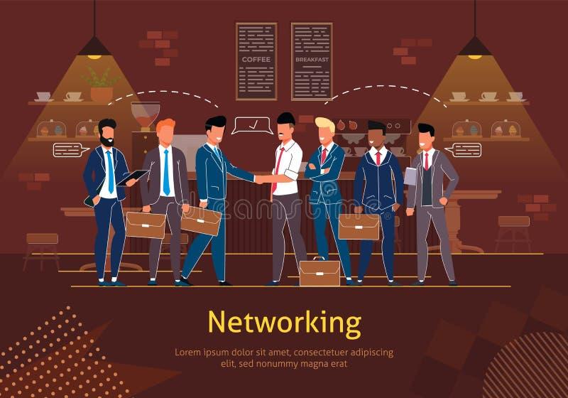 Mise en réseau avec l'affiche de vecteur d'associés illustration de vecteur