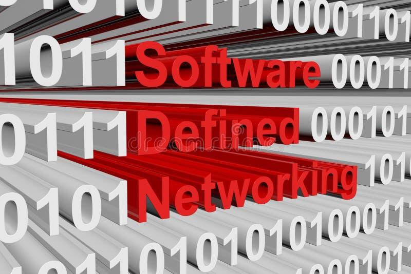 Mise en réseau définie par logiciel illustration de vecteur