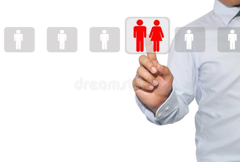 Mise en réseau et recrutement dans les ressources humaines, centre d'évaluation image libre de droits