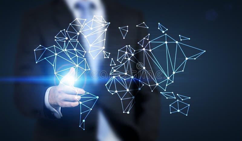 Mise en réseau globale et concept de déplacement illustration de vecteur