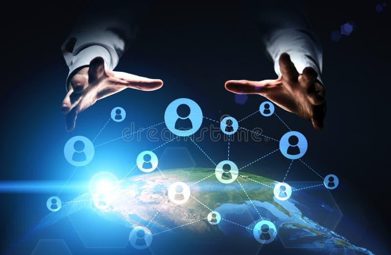 Mise en réseau sociale globale illustration libre de droits