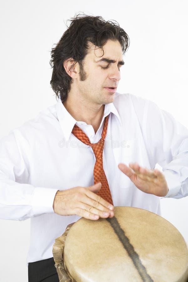 Mise en tambour follement image stock