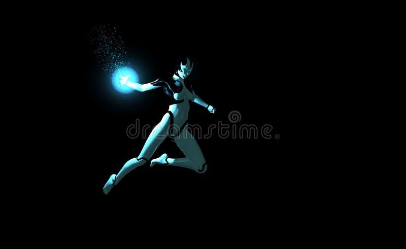 Mise sous tension de Cyborg illustration stock