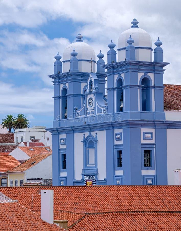 Misericordia教会, Angra,亚速尔群岛 免版税图库摄影