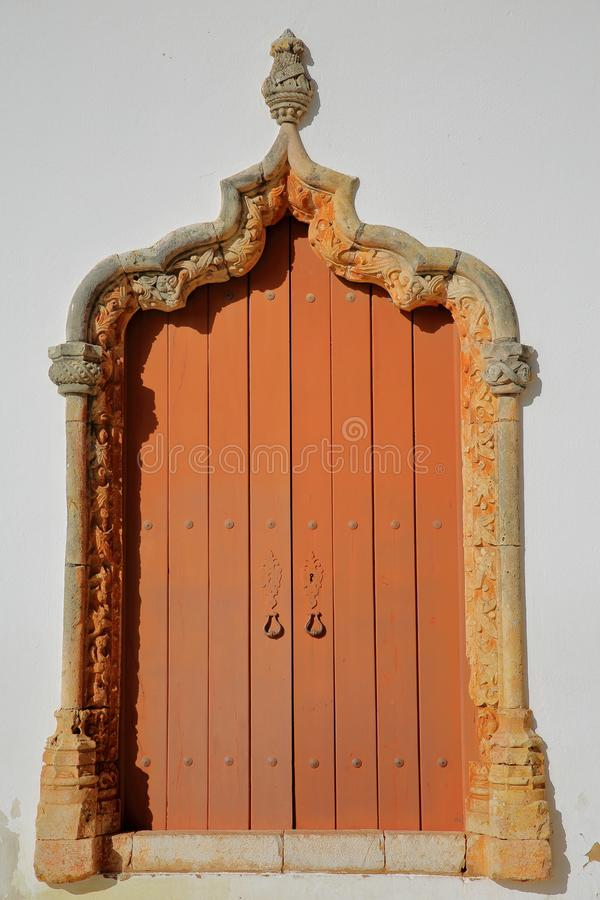 Free Misericordia Church: Details Of A Manueline Doorway Facing The Cathedral Of Silves, Algarve Stock Images - 134008114
