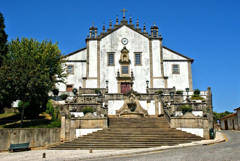Misericordia church in Santa Maria da Feira. Portugal royalty free stock image