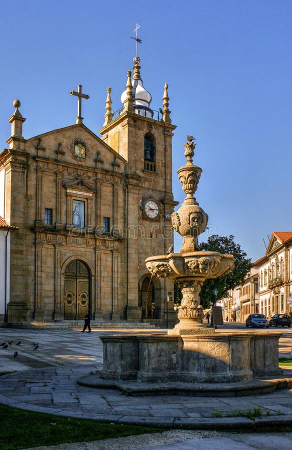Download Misericordia Fountain And Church In Penafiel Stock Image - Image of historical, europe: 95293577