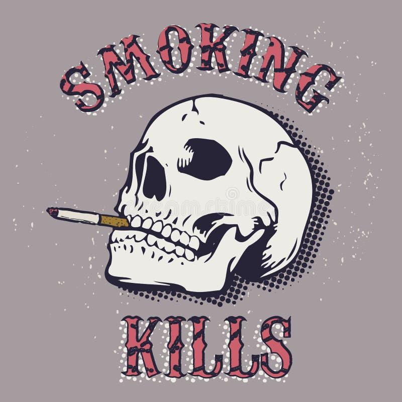 Mises à mort de tabagisme illustration libre de droits
