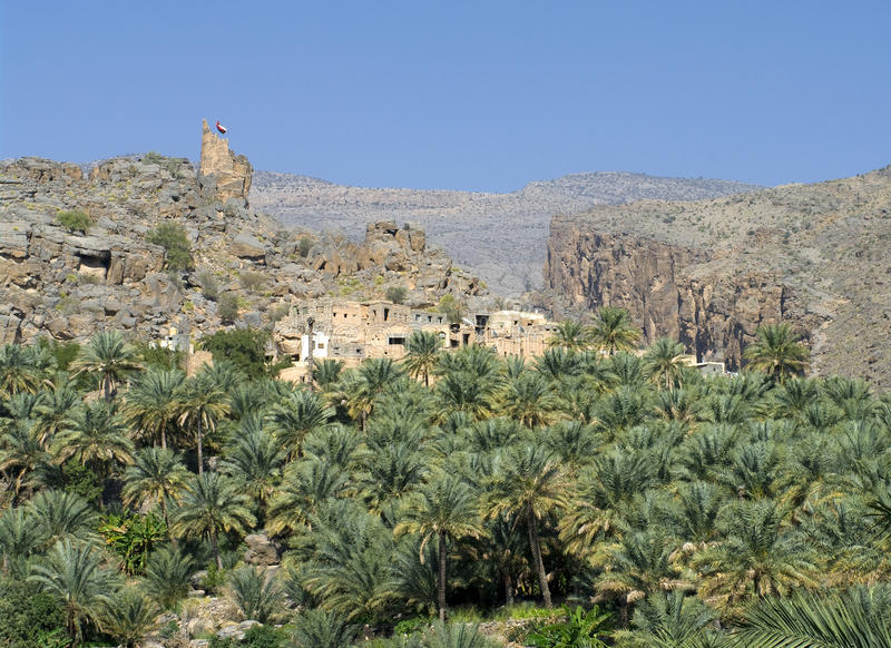 Misfat, sultanate Oman royalty free stock photography