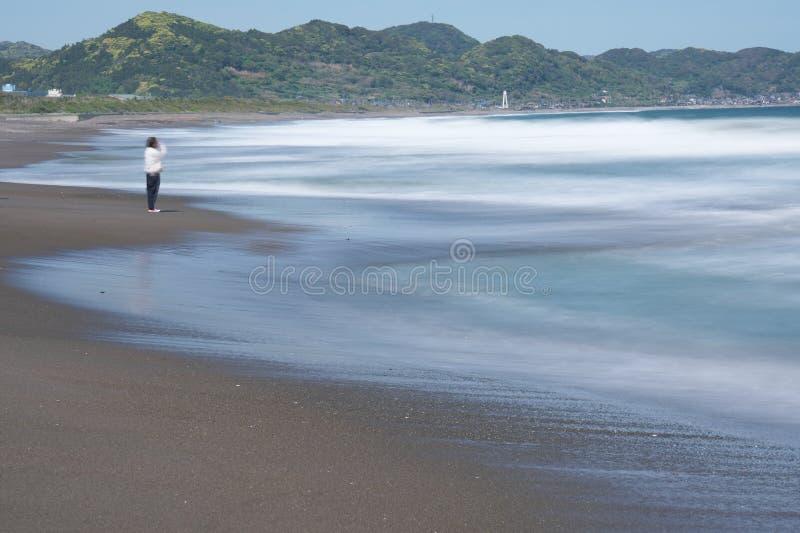 Mishimastrand bij Boso-Schiereiland in de prefectuur van Chiba royalty-vrije stock foto's