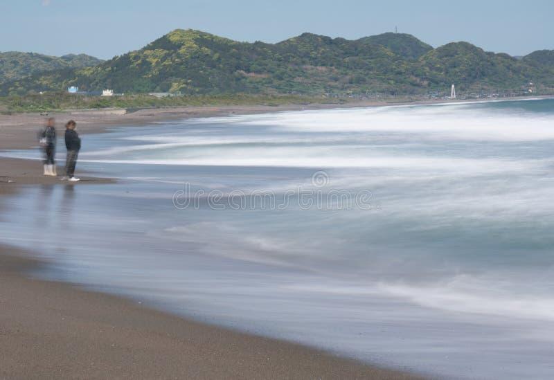 Mishimastrand bij Boso-Schiereiland in de prefectuur van Chiba stock afbeeldingen
