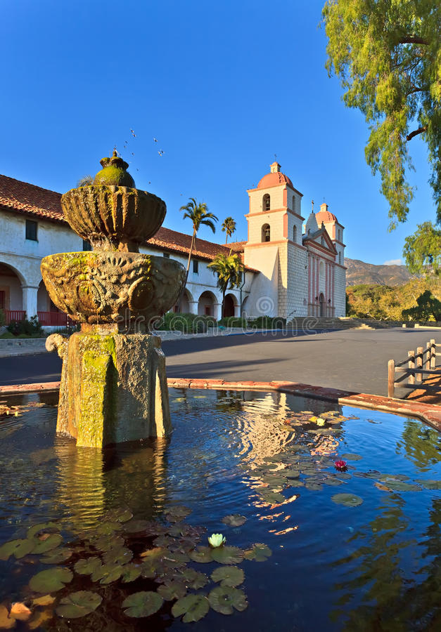Misión de Santa Barbara fotos de archivo