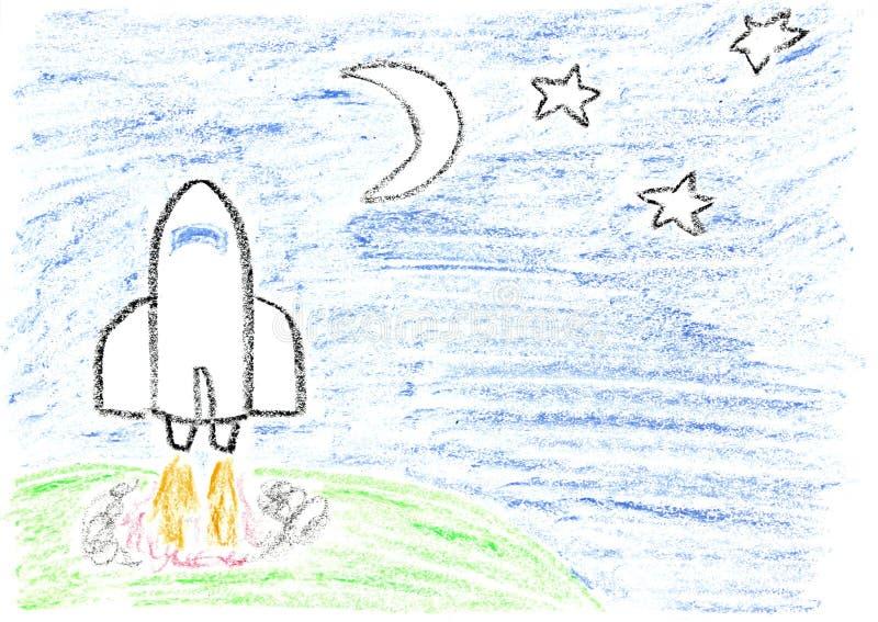 Misión espacial ilustración del vector